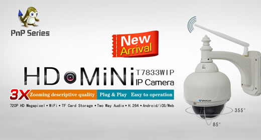 T7833WIP สามารถซูมเลนส์ หรือ ซูม Optical ได้ 3x - HD Wifi IP Camera,Fully upgraded Version,Same Price,Better Value