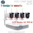 WFKit-IP4960PTHZ 4CH 960P Wireless NVR CCTV System WiFi 1.3MP IR Outdoor Bullet IP Camera Waterproof
